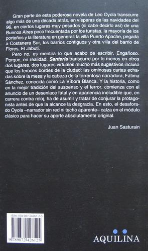 santería, leonardo oyola, ed. aquilina