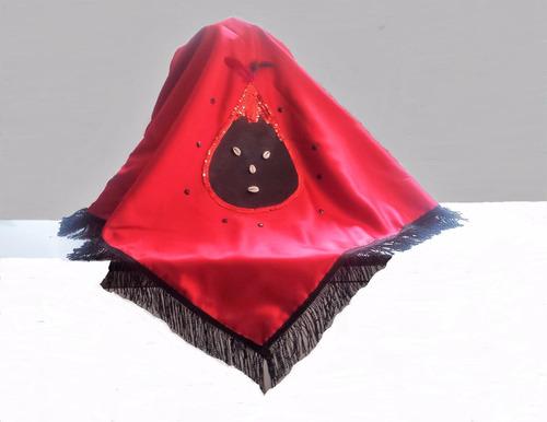 santeria pañuelo paño elegua yoruba  para sopera y trono