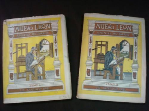 santiago roel, nuevo león, apuntes históricos, 1938, 2 tomos