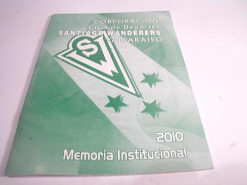 santiago wanderers memoria institucional 2010