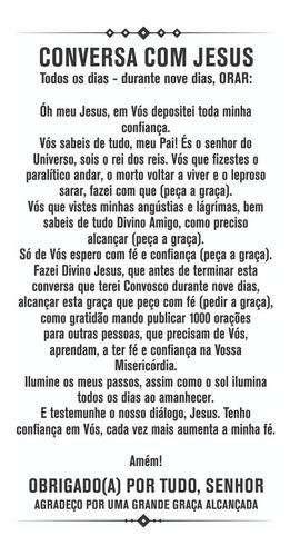 santinho conversa com jesus - papel 250g 9x5cm (1000un)