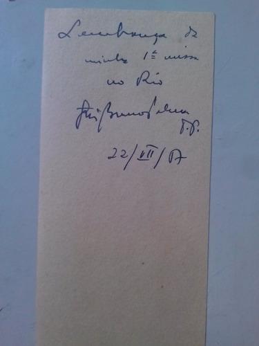 santinho de 1917(?) lembrança da 1ª missa no rio