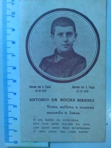 santinho de 1930 falecimento antonio da rocha