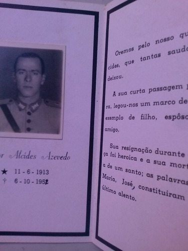 santinho de 1952 falecimento major alcides