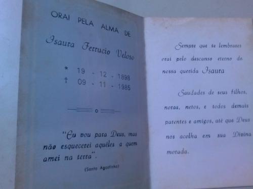 santinho de 1985 falecimento isaura