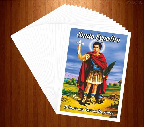 santinho santo expedito milheiro (oração 1000 unidades)