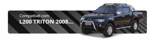 santo antônio duplo preto com grade l200 triton 2008 2018