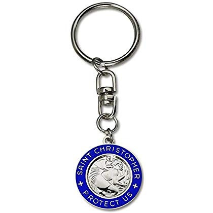 santo cristóbal proteger con nosotros auto clave cadena ( p