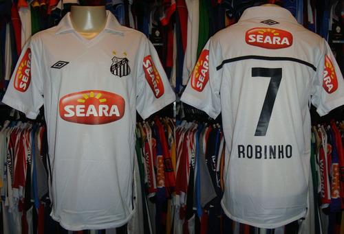 santos - camisa 2010 titular 7 # robinho