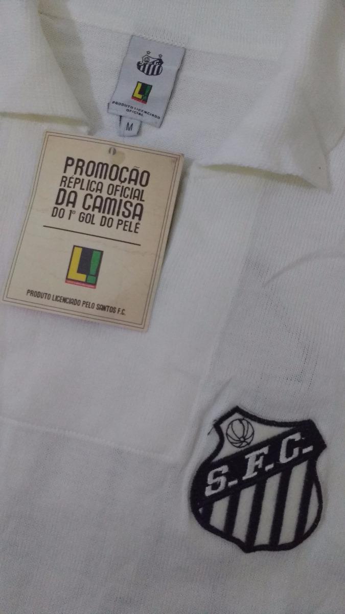 Carregando zoom... camisa santos - réplica oficial camisa do 1° gol pelé.  Carregando zoom. 930588017a841