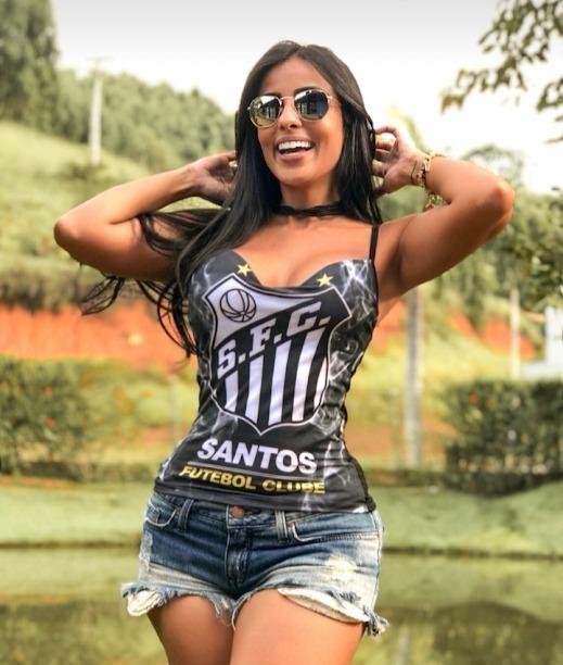 d44bf97495 Santos Futebol Clube Camisa Time Feminina Sexy Club - R  50