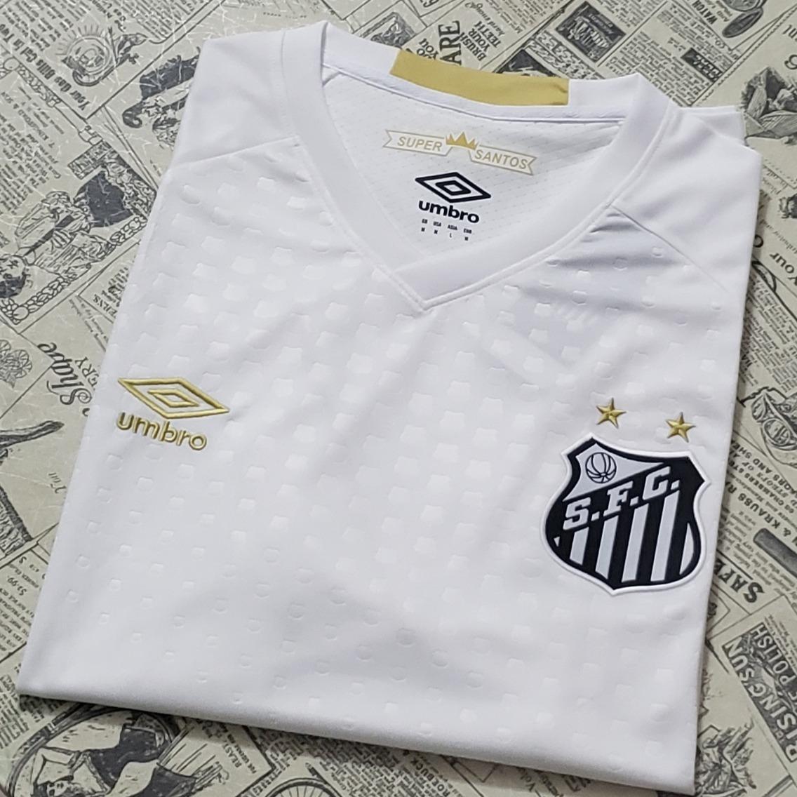 Camisa Santos 18 19 S n Torcedor Masculina P entrega - R  149 c027bf1eaee22