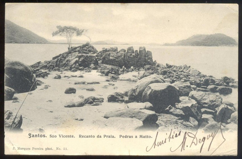 santos - são vicente - recanto da praia - pedras a matto