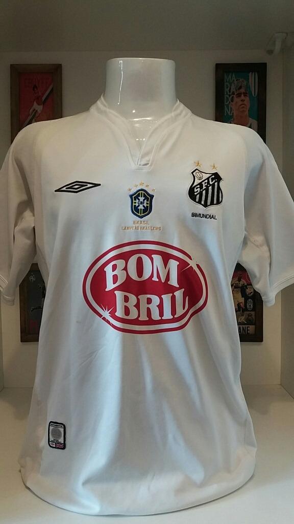56ef288a54 Santos Umbro Camisa Futebol Robinho Patch Campeão - R  139