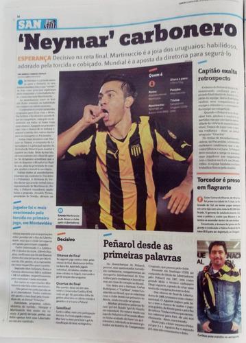 santos x peñarol final libertadores 2011 jornal lance