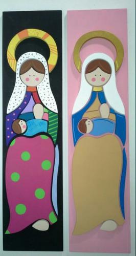 santos y virgenes en mdf virgen de chiquinquira