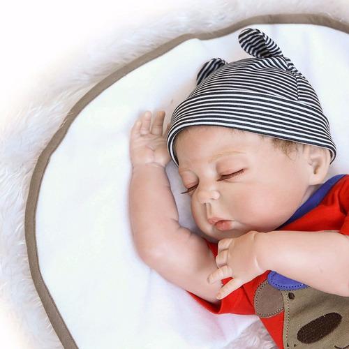 sanydoll bebé reborn muñeco de vinilo d silicona 22 pulgadas