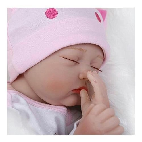 sanydoll muñeca recién nacida de silicona de vinilo 55 cm
