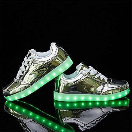 sanyes - zapatillas deportivas con luz led y carga usb
