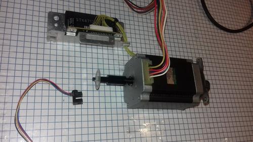 sanyo denki motor de pasos,2.5a,1.8°/step, encoder 100 lin.