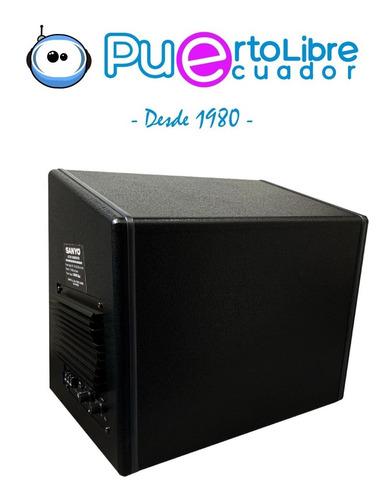 sanyo potente bajo subwoofer amplificado 1400w + kit cables