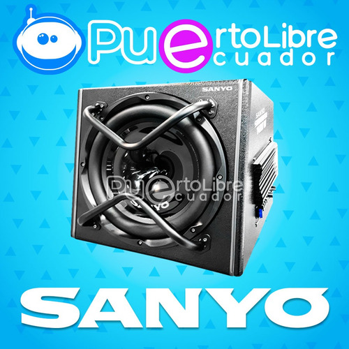 sanyo potente bajo subwoofer amplificado 1400w + kit cables