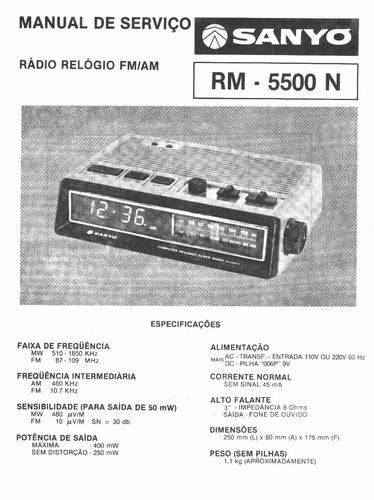 sanyo - rm-5500 esquemas e diagramas de serviço