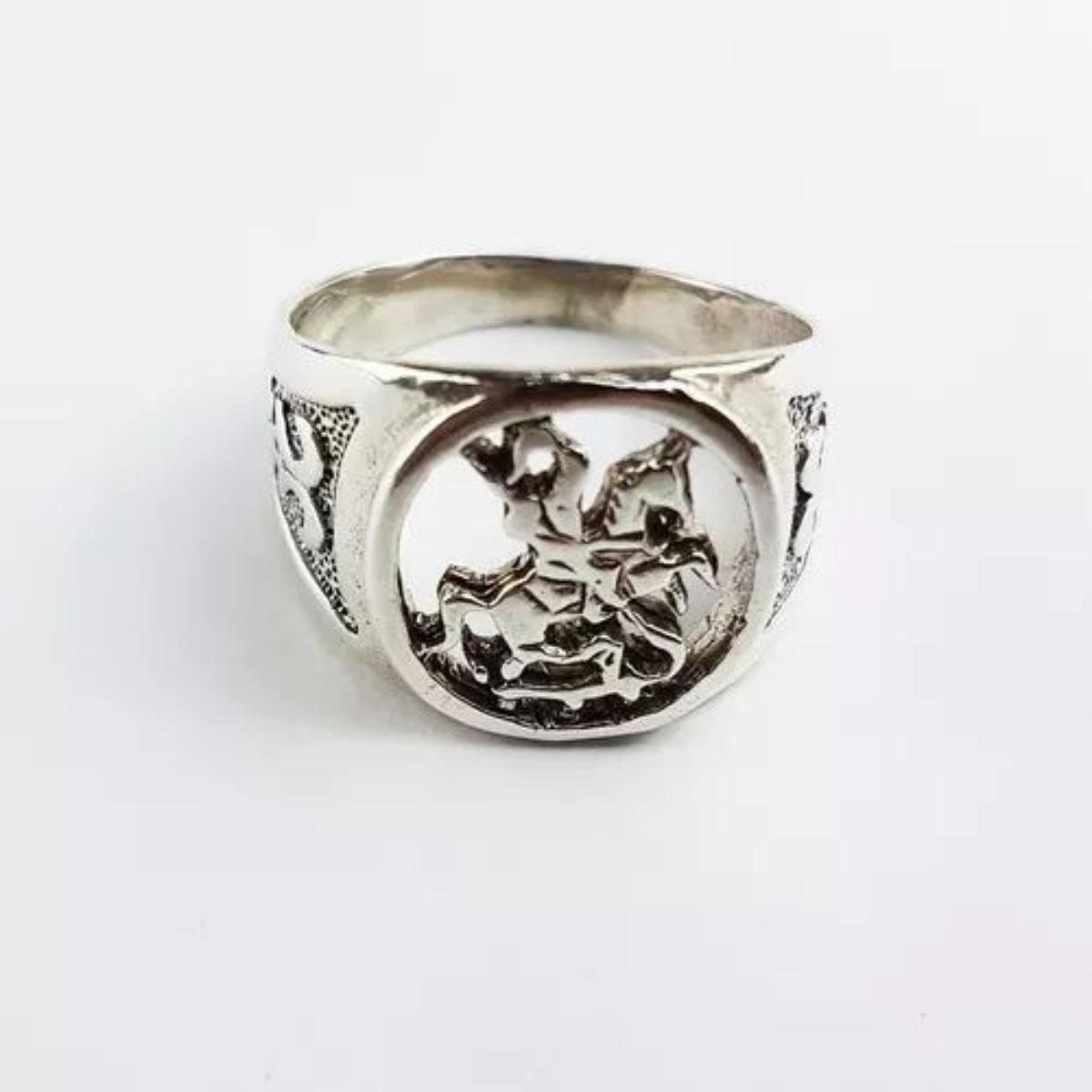 18e138e86c sao jorge vazado anel em prata 925. Carregando zoom.