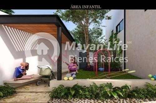 sao, villas y townhouses en venta en mérida, con piscina y área infantil