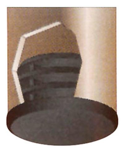 sapata de borracha int. pés cadeira e mesa 3/4 - c/20 peças