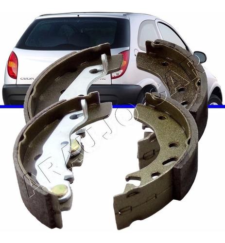 sapata de freio traseiro com lona para celta life 1.0 1.4