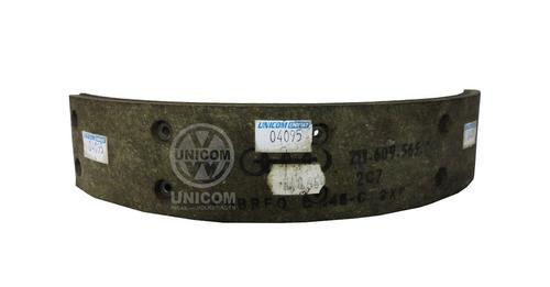 sapata freio traseiro com lona kombi 1600 até 82 orig.vw