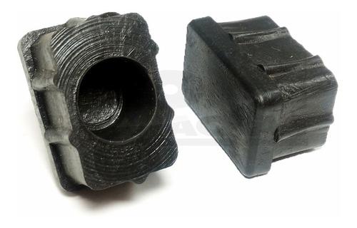 sapata ponteira interna borracha 20x30 tubos metalon 50 uni