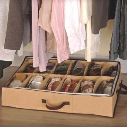 sapateira 12 pares - organize sapatos no chão debaixo cama