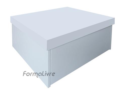 sapateira box baú caixa organizadora sapatos - branco laca