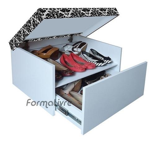 sapateira box baú p/ sapatos melissas sapatilhas havaianas