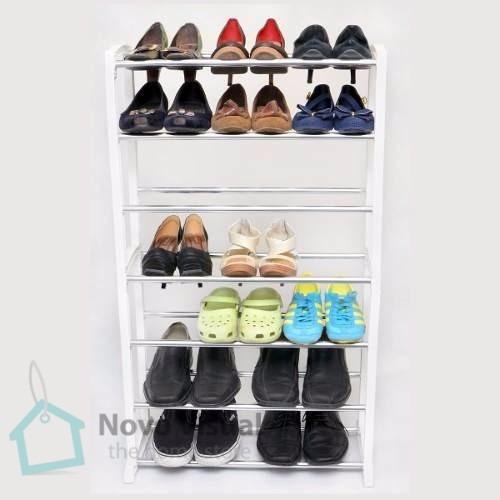 sapateira cromada 21 pares guarda roupa closet frete grátis
