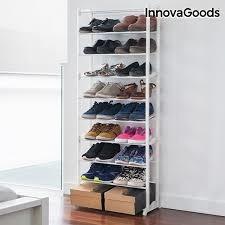 sapateira de chao 10 prateleiras 60 sapatos organizador luxo