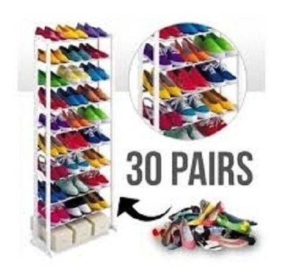 sapateira estante vertical organizador tenis sapatos 30 pare