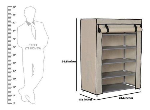 sapateira grande 5 prateleiras estante organizador armario