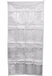 sapateira organizador para portas com 20 bolsos transparente