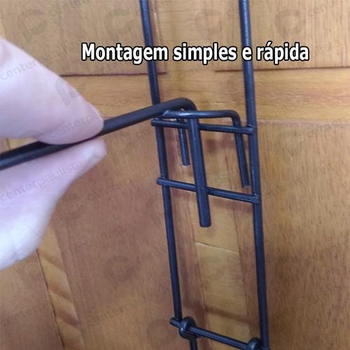sapateira vertical de aço para porta capacidade 12 pares
