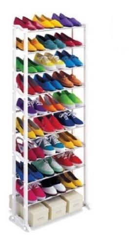 sapateira vertical de chao gigante 10 prateleiras 60 sapatos
