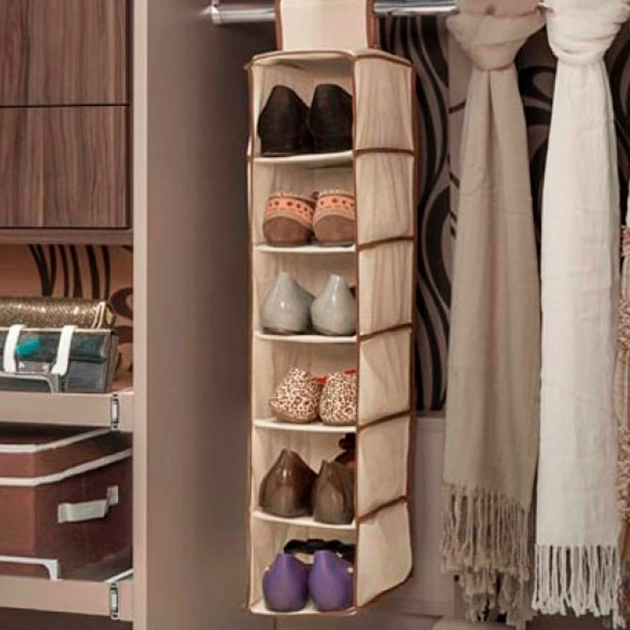 Sapateira vertical dobr vel luxo flex vel organizador for Organizadores para closet
