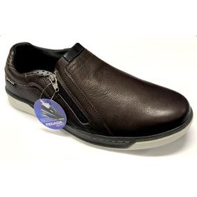808c9bc8d42 Sapatênis Masculino Pegada 14801 Couro Com Amortecedor - Sapatos no ...