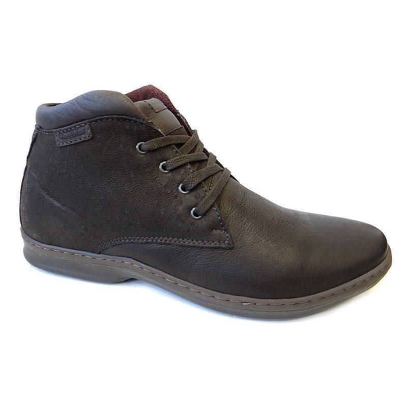 312643565 sapatenis bota masculin0 couro avalon -free way 07 - moca. Carregando zoom.