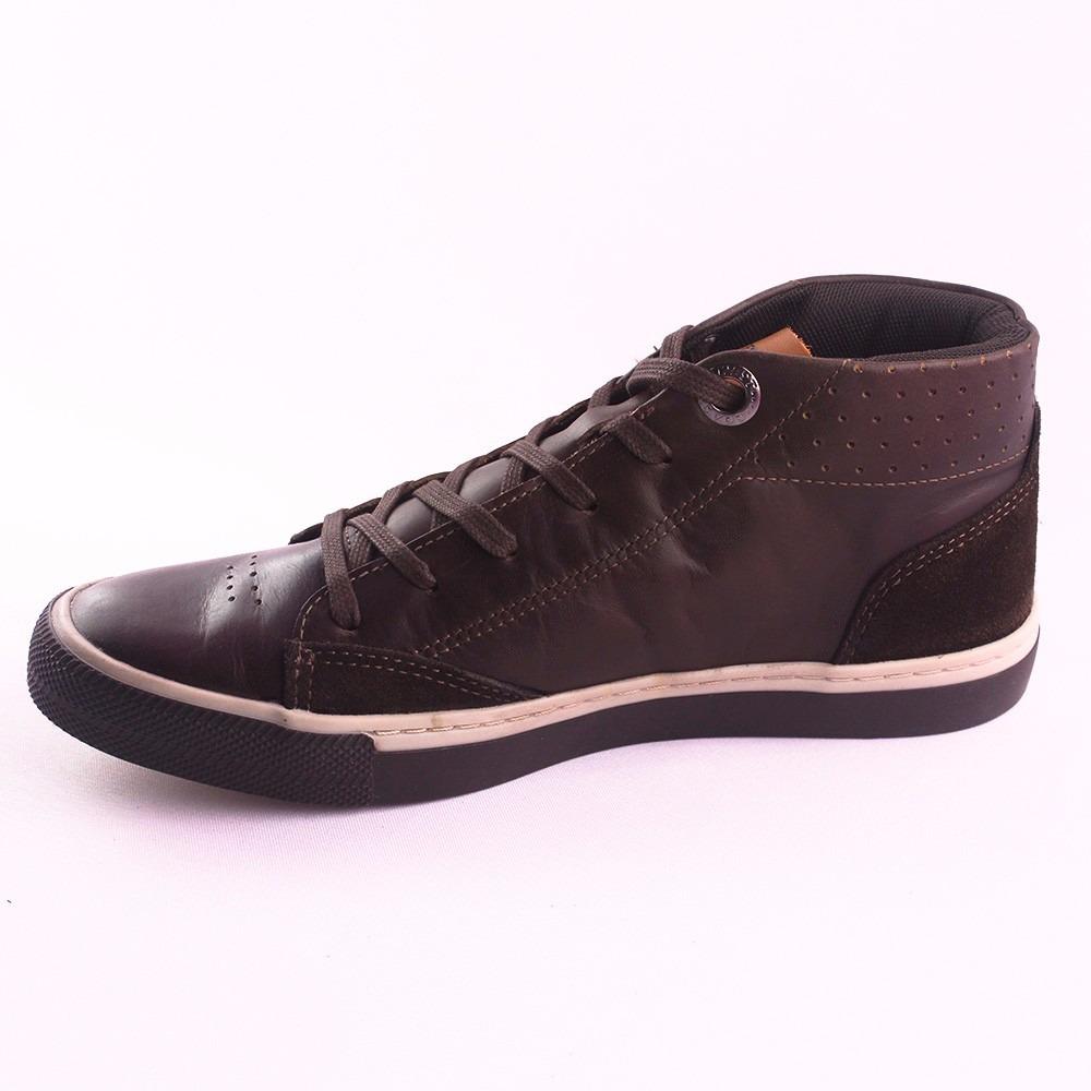 c64b0d3555204 sapatenis bota masculina em couro west coast marrom 583139. Carregando zoom.