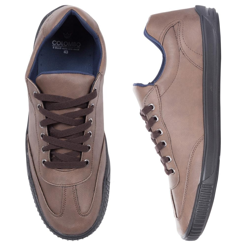 c860d18d01a Sapatenis Colombo Masculino Marrom 36991 - R  109