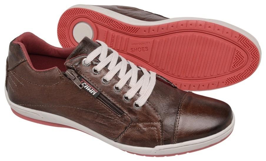 16b54fa08ed Sapatenis Dockside Sapato Casual Couro Tchwm Shoes Com Ziper - R  79 ...