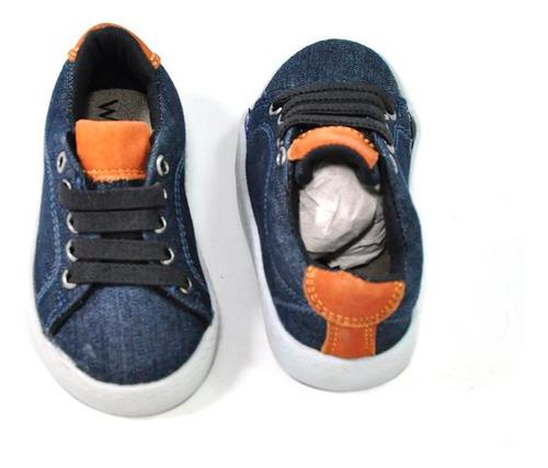 sapatenis infantil masculino jeans 5482 laroche